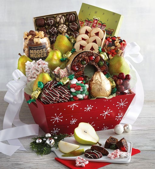 Christmas Gift Baskets For Couples.Deluxe Christmas Gift Basket