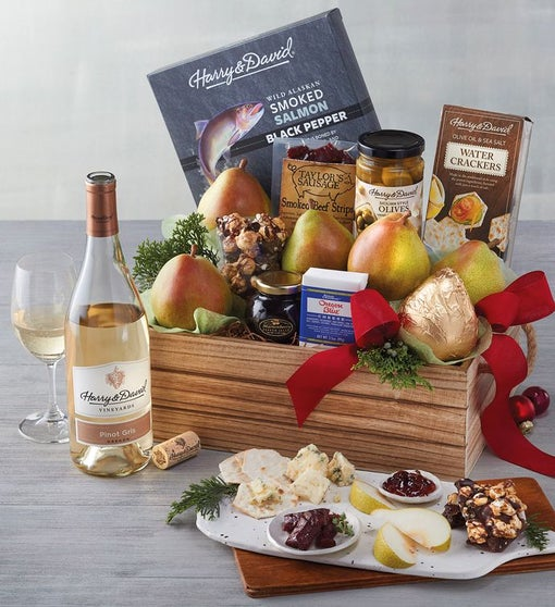 Deluxe Northwest Inspirations Gift Basket with Wine