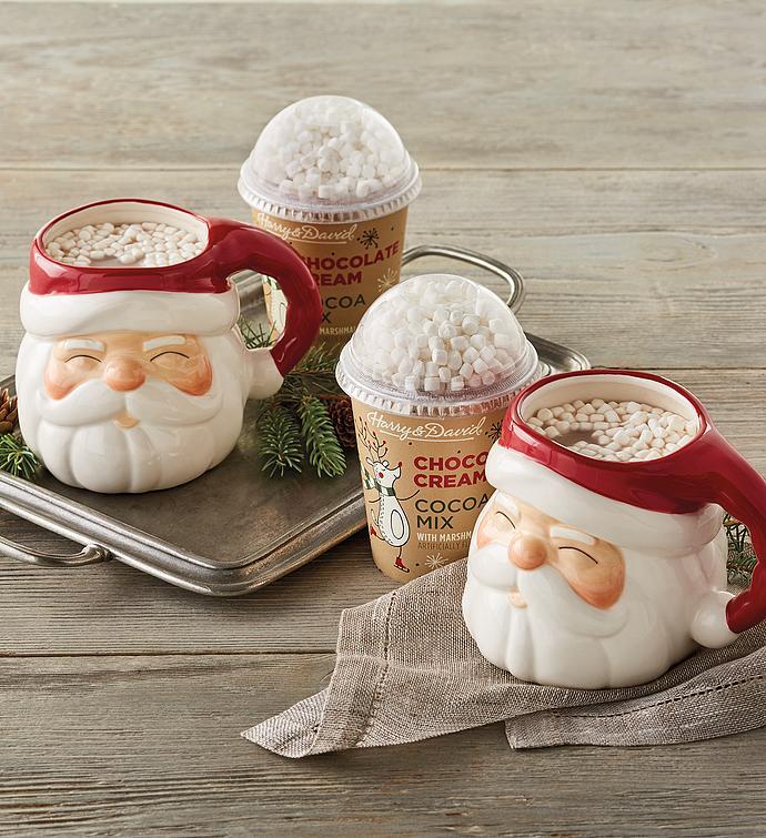 Holiday Hot Chocolate with Mugs