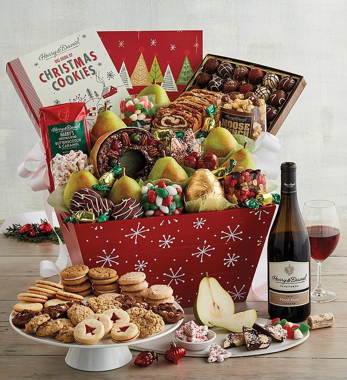 Supreme Christmas Gift Basket with Wine