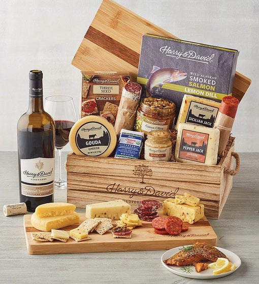 Artisan Meat and Cheese Gift with Wine