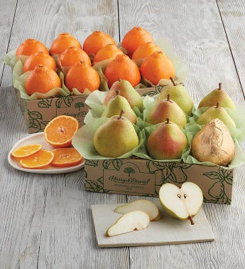 HoneyBells and Royal Riviera174 Pears