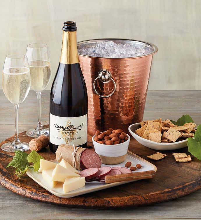 Sparkling Wine and Copper Chiller Gift