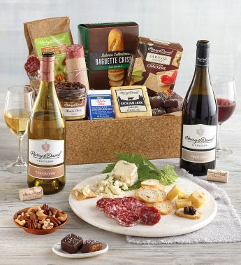 Artisan Appetizers Tray with Wine