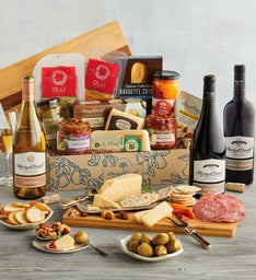 Deluxe Antipasto Assortment with Wine