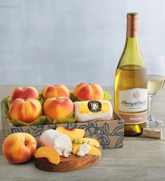 Oregold Peaches Honey Goat Cheese and Harry  Davidtrade Riesling