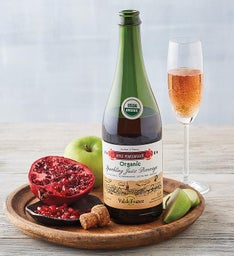 Organic Apple Pomegranate Sparkling Juice
