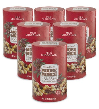 Moose Munch174 Milk Chocolate Premium Popcorn 8211 10 oz 6 Pack