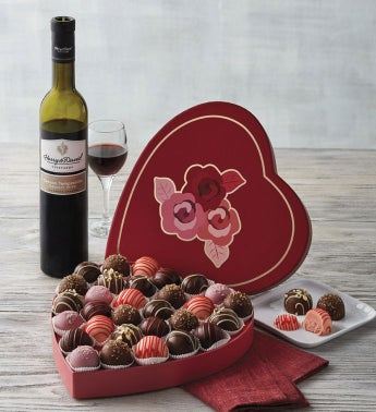 Valentine39s Day Truffles with Wine