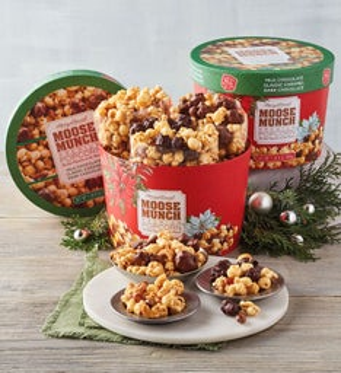 Moose Munch Premium Popcorn Holiday Drum   Pack