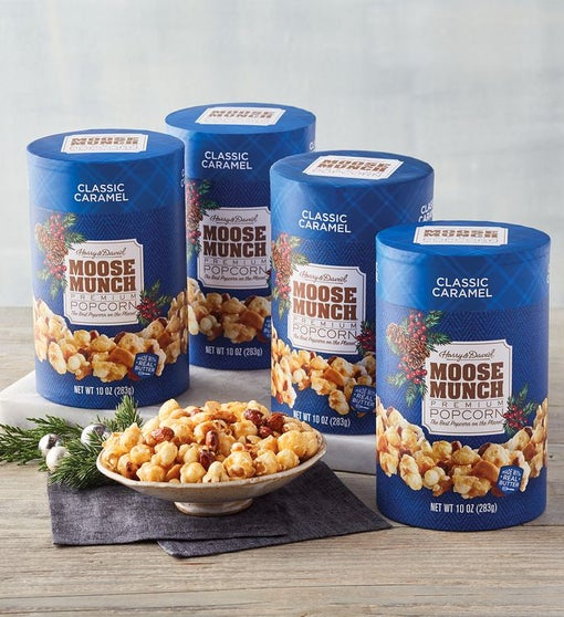 Moose Munch® Holiday Premium Popcorn - Classic Caramel - 4 Pack