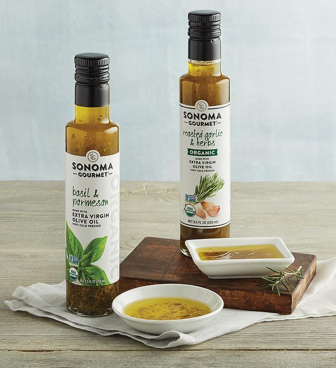 Organic Seasoned Extra Virgin Olive Oil Duo
