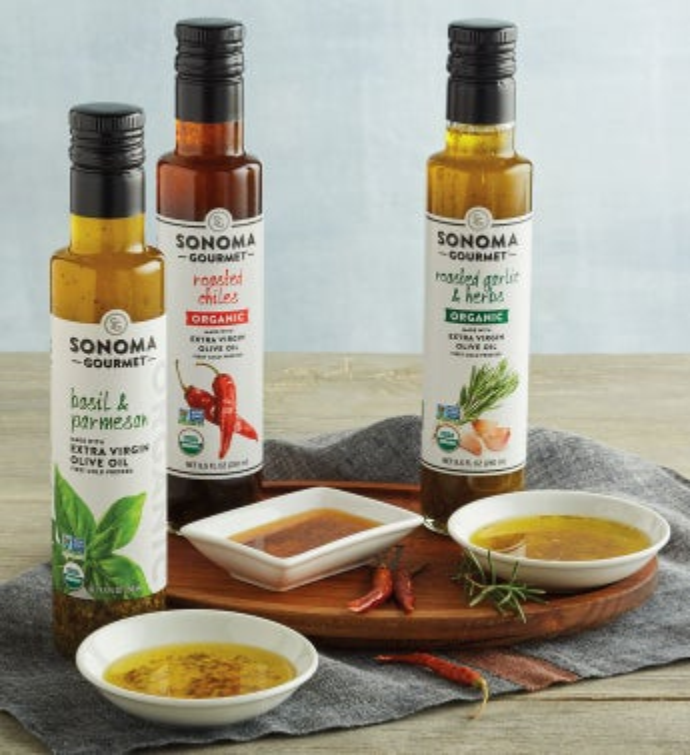 Organic Seasoned Extra Virgin Olive Oil Trio by Harry & David