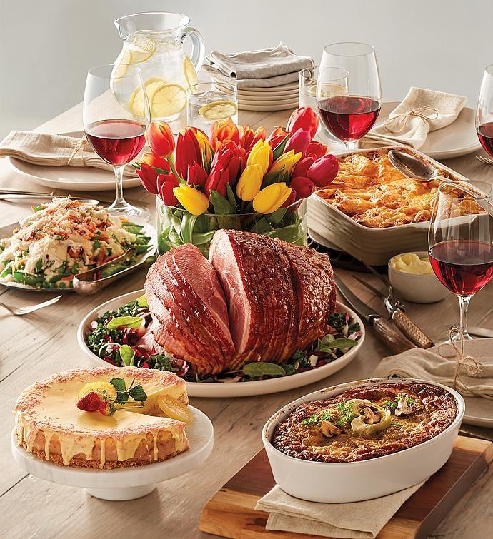 Image result for gourmet easter ham dinner