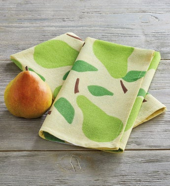 Flour Sack Pear Towel