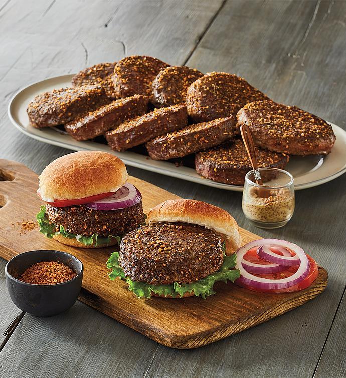 Twelve 8-Ounce Steak Burgers and Hamburger Spice Rub