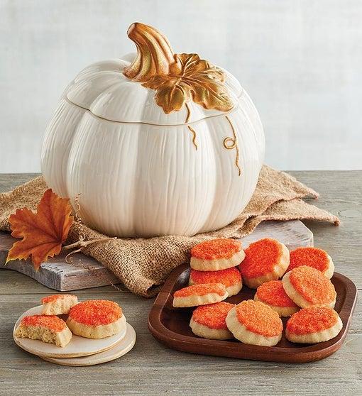 Pumpkin Cookie Jar and Cookies