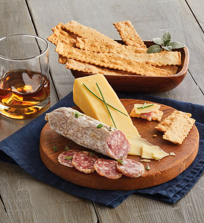 Whiskey-Infused Salami and Cheese Pairing