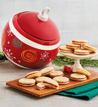Ornament Cookie Jar with Cookies