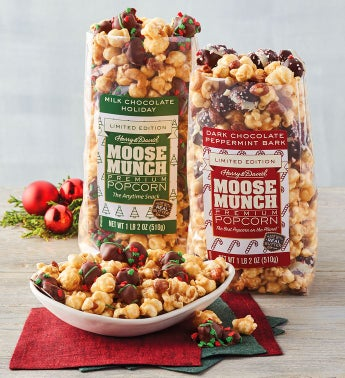 Moose Munch® Limited Edition Premium Popcorn – Holiday and Peppermint
