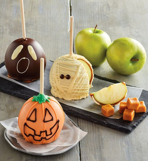 Halloween Caramel Apple Trio