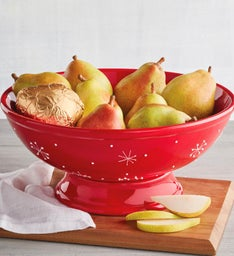 Royal Riviera Pears with Holiday Fruit Bowl