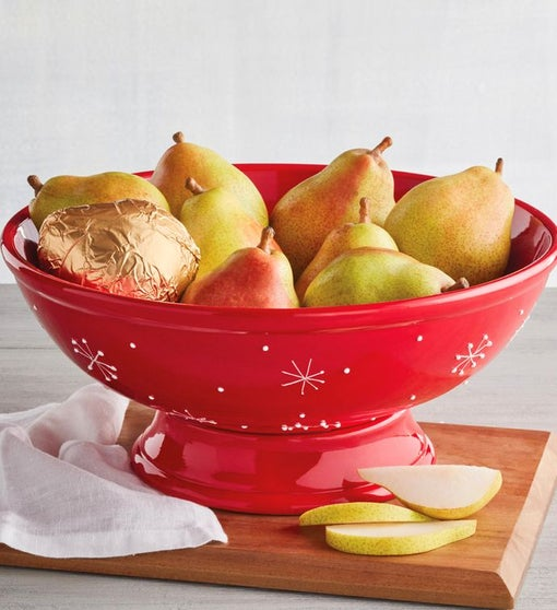 Royal Riviera® Pears with Holiday Fruit Bowl