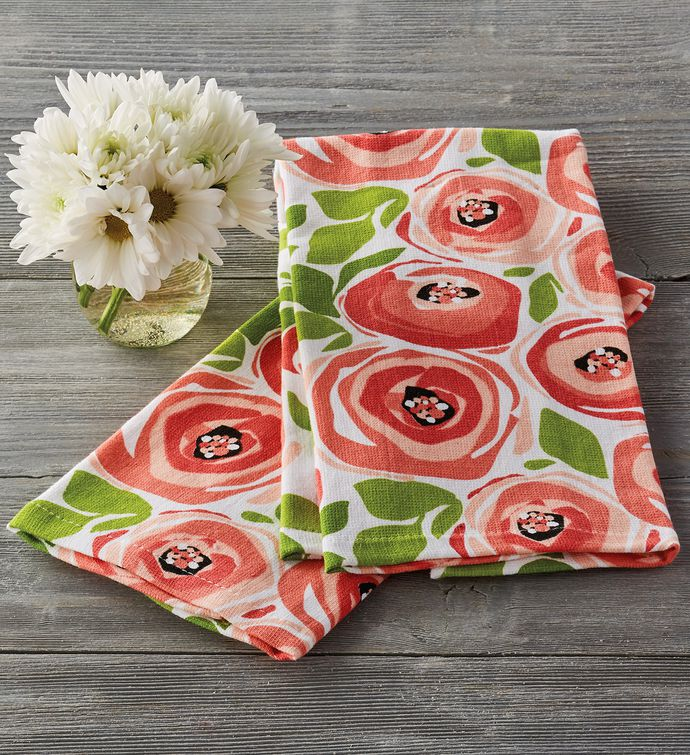 Spring Rose Kitchen Towel