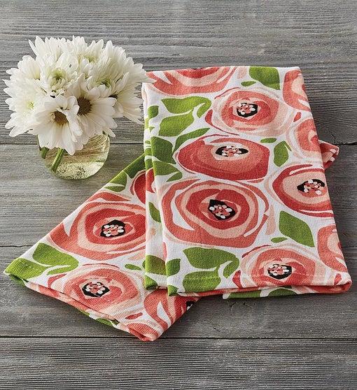 Spring Rose Kitchen Towel