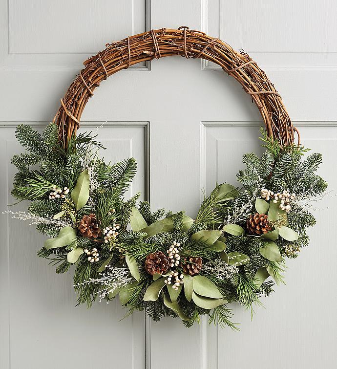 Modern Holiday Wreath