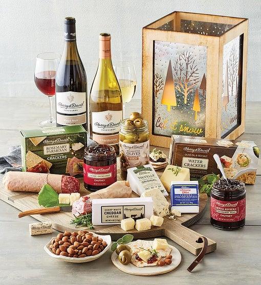 Wooden Lantern Wine Gift