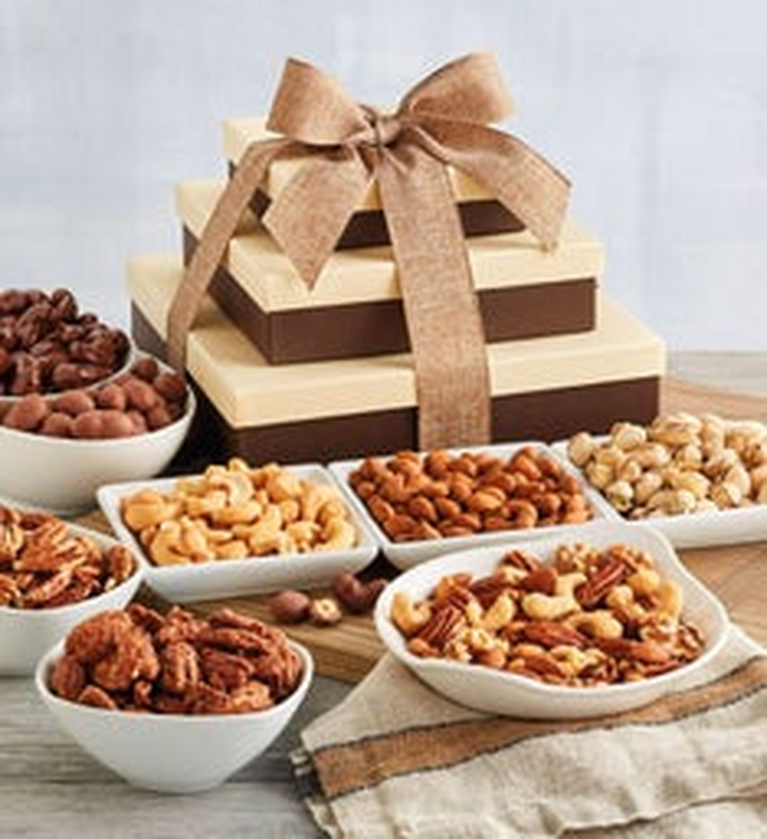 Premium Nut Gift Tower