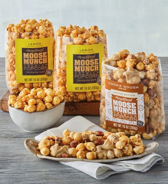 Moose Munch174 Premium Popcorn Lemon Cream and Cookie Dough Duo
