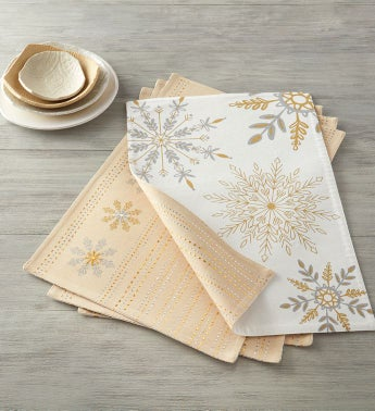 Reversible Snowflake Placemats – Set of 4