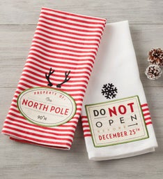 Santas Workshop Towels  Set of