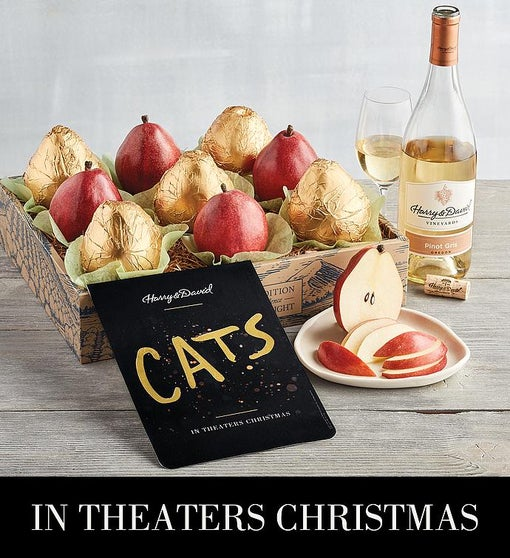 <i>CATS</i> Gold Pear Gift with Wine