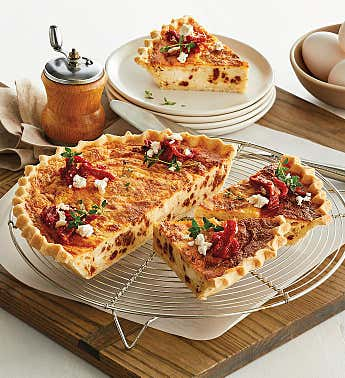 Sun-Dried Tomato and Feta Quiche