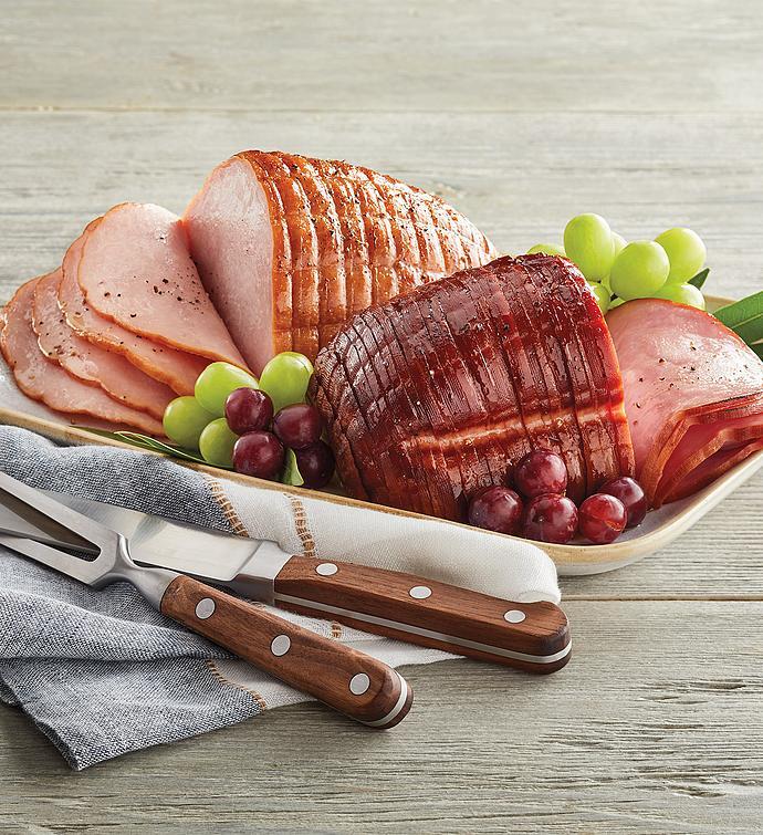 Sliced Ham and Turkey