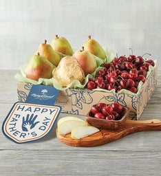 Fathers Day Pears and Cherries Fruit Gift