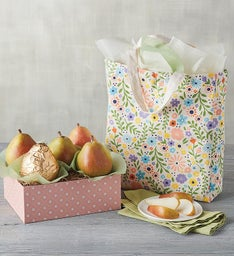 Mothers Day Pears and Tote Gift