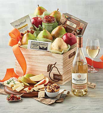 New Year's Signature Gift Basket with Wine