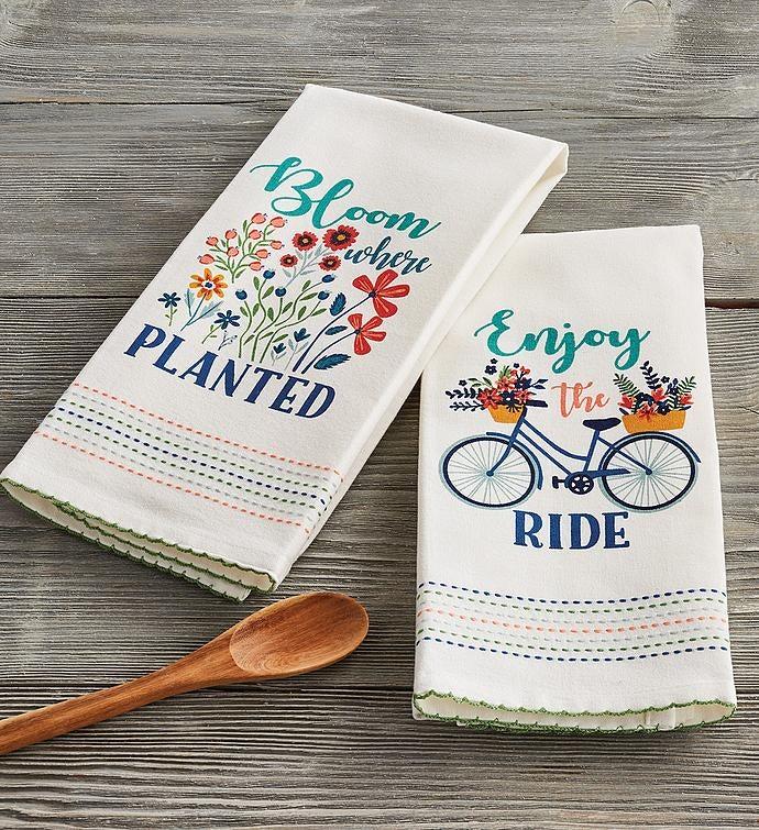 Spring Flower Towels  Set of