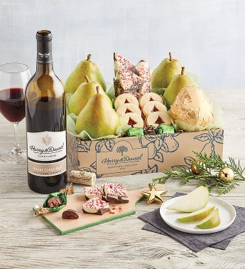 Christmas Gift Box with Wine