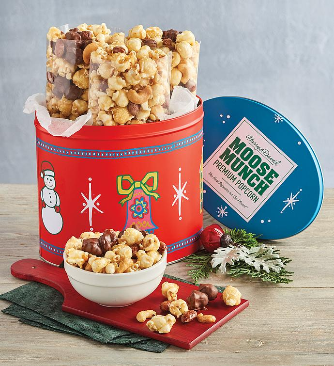 Moose Munch® Premium Popcorn Mini Holiday Tin