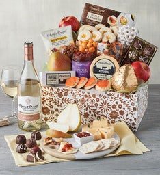 Mothers Day Gift Basket with Wine