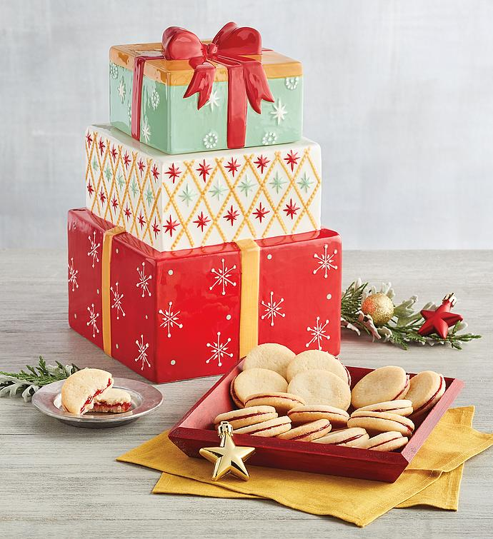Christmas Cookie Jar with Cookies