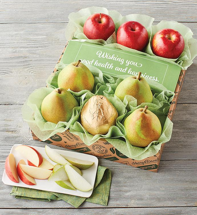 """Healthy Wishes"" Pears and Apples"