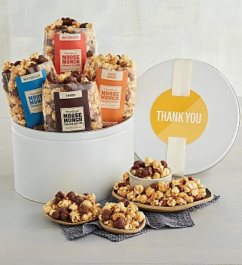 Thank You Moose Munch® Premium Popcorn Tin