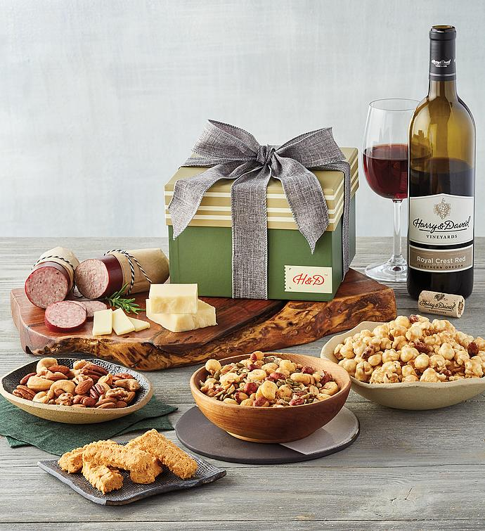 Gift Box for Him with Wine