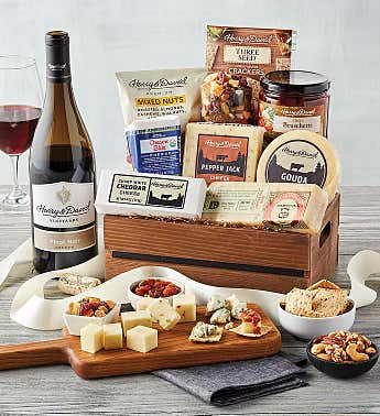 Deluxe Cheese Crate with Wine